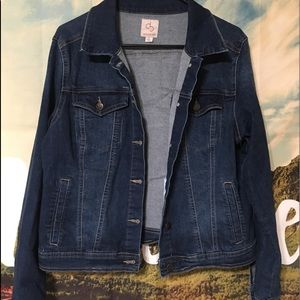 Dressbarn Stretchy Denim Jacket